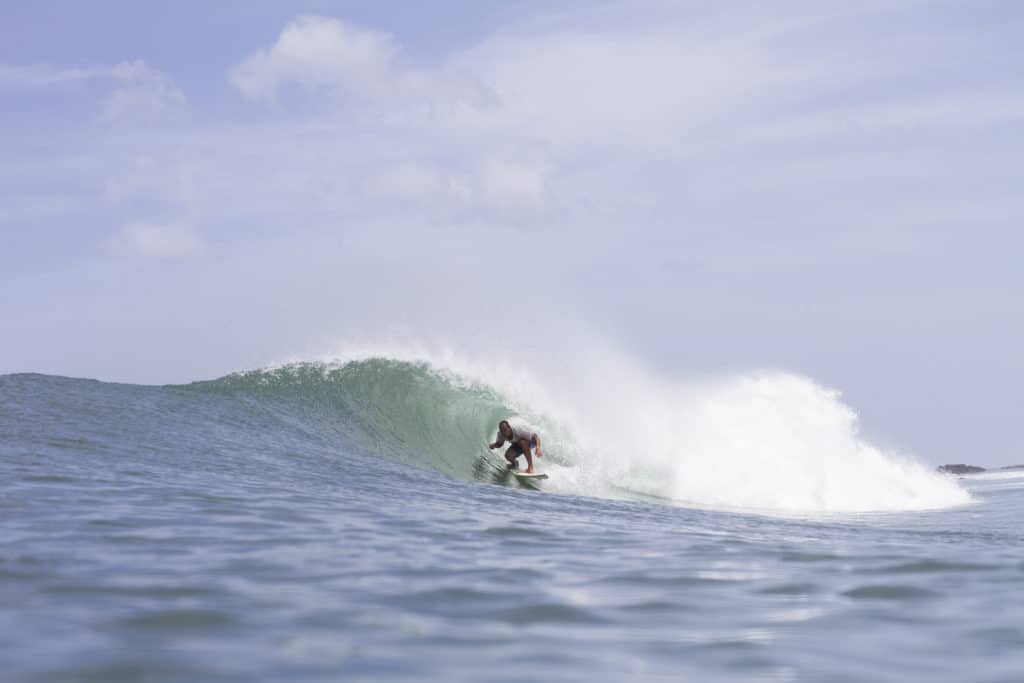 surfing in Guadeloupe in the West Indies