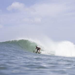 Surfen in Guadeloupe auf den Westindischen Inseln